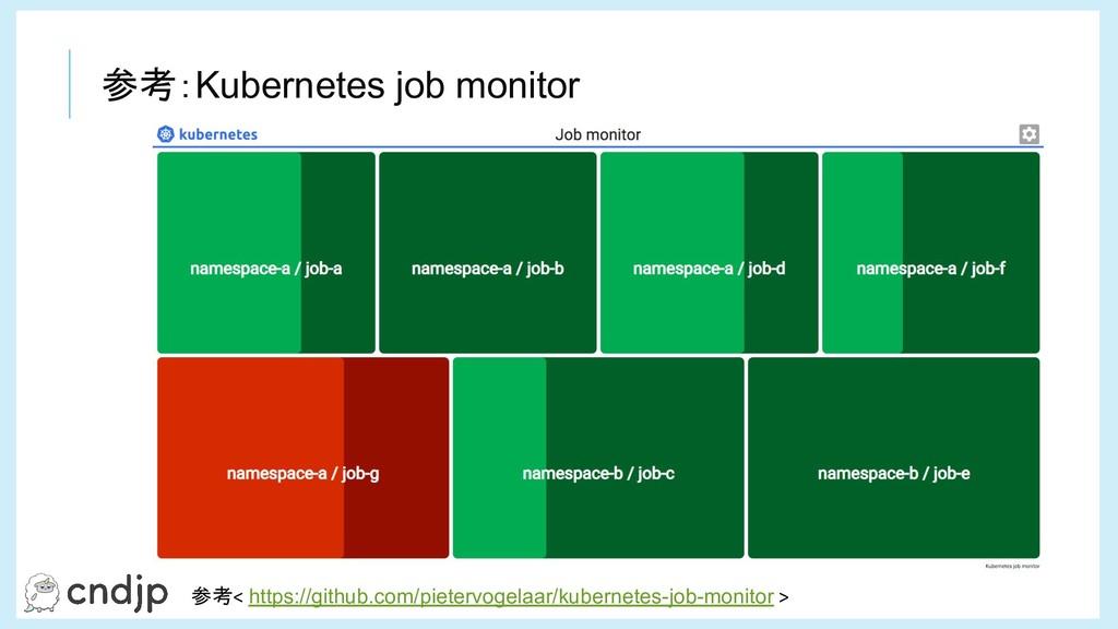 参考:Kubernetes job monitor 参考< https://github.co...