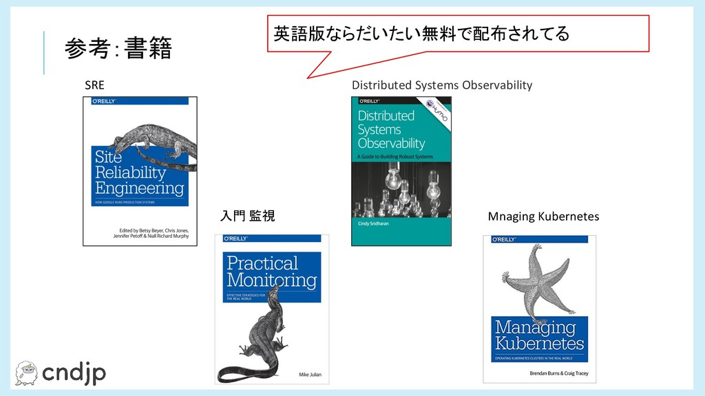 SRE Distributed Systems Observability 入門 監視 Mna...