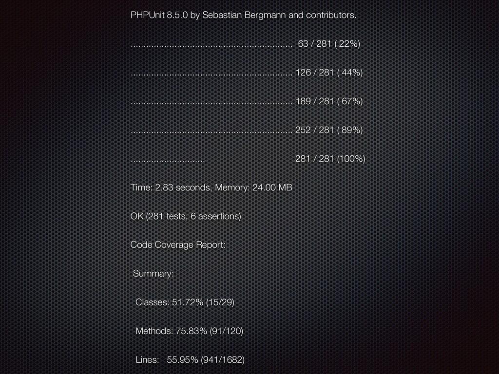 PHPUnit 8.5.0 by Sebastian Bergmann and contrib...