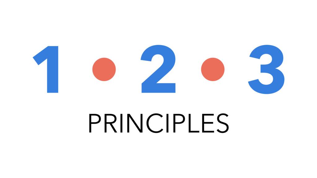 PRINCIPLES 1 • 2 • 3