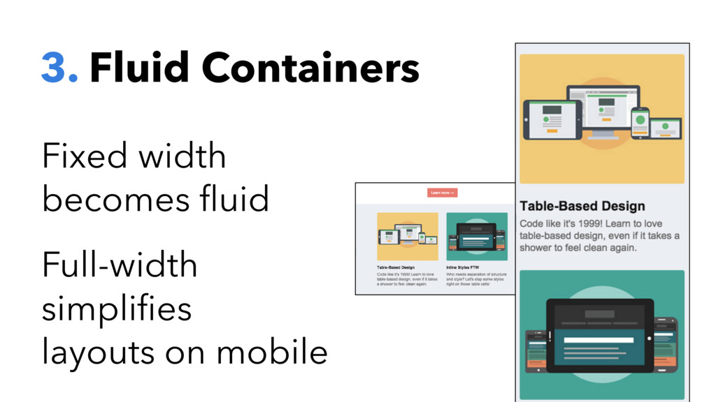 3. Fluid Containers Fixed width becomes fluid Fu...