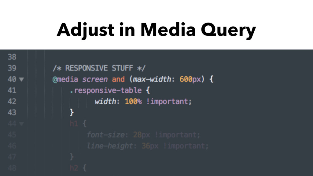 Adjust in Media Query
