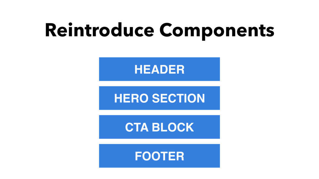 Reintroduce Components HEADER HERO SECTION CTA ...