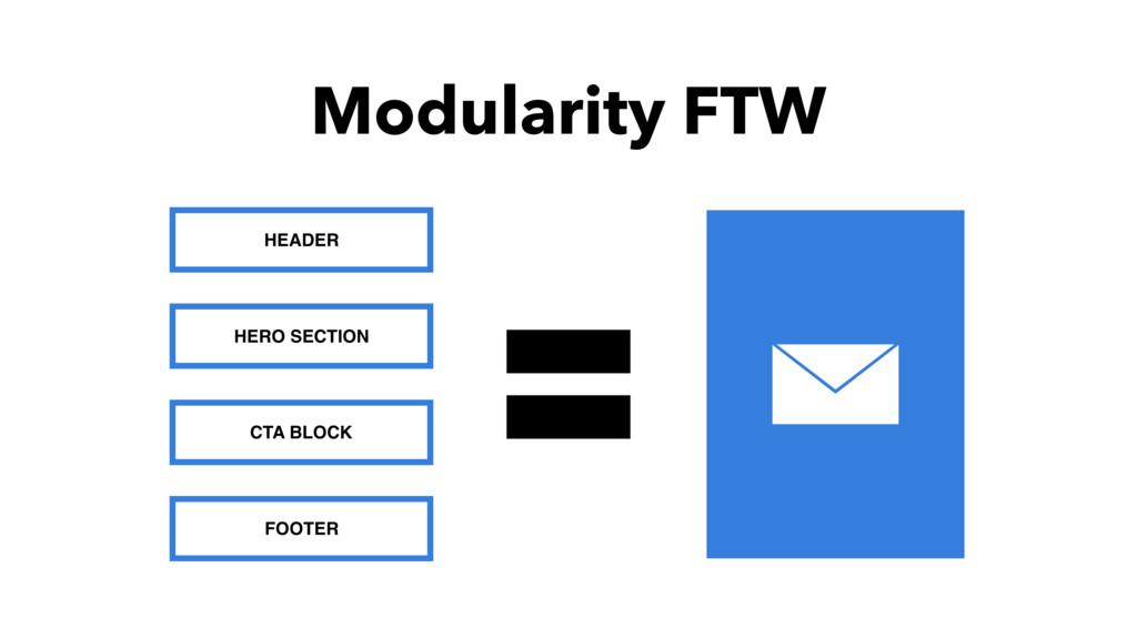 Modularity FTW HEADER HERO SECTION CTA BLOCK FO...