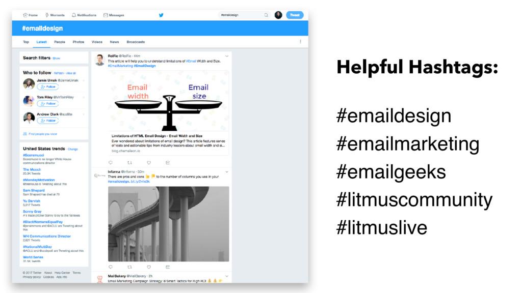 Helpful Hashtags: #emaildesign #emailmarketing ...