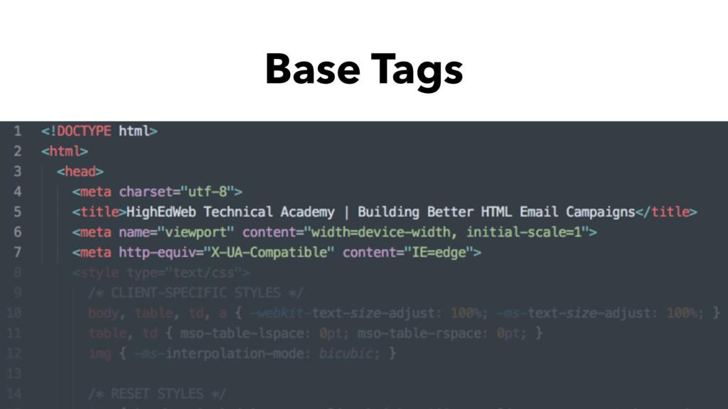 Base Tags