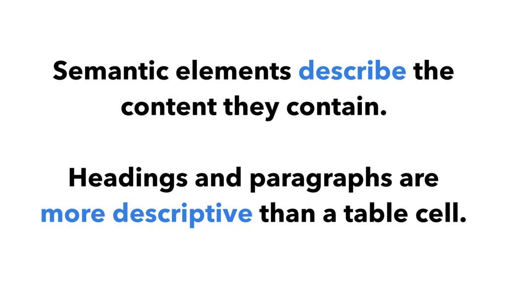 Semantic elements describe the content they con...