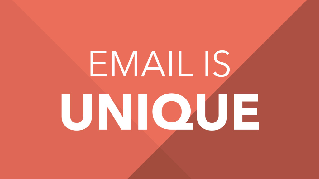 EMAIL IS UNIQUE