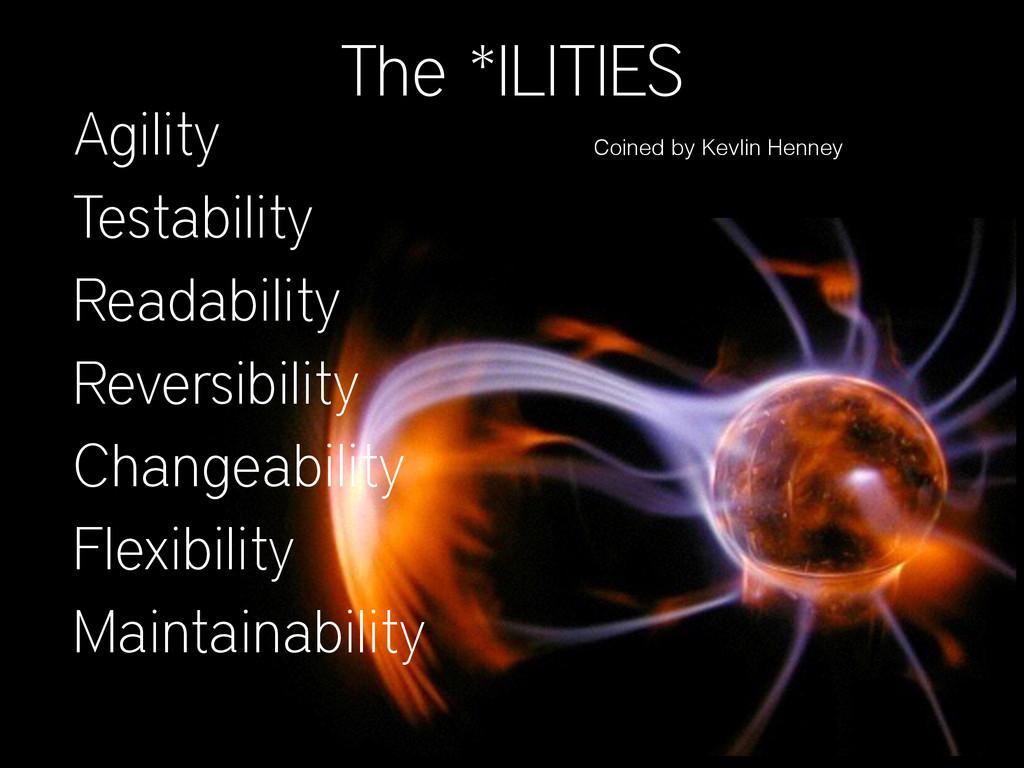 The *ILITIES Agility Testability Readability Re...