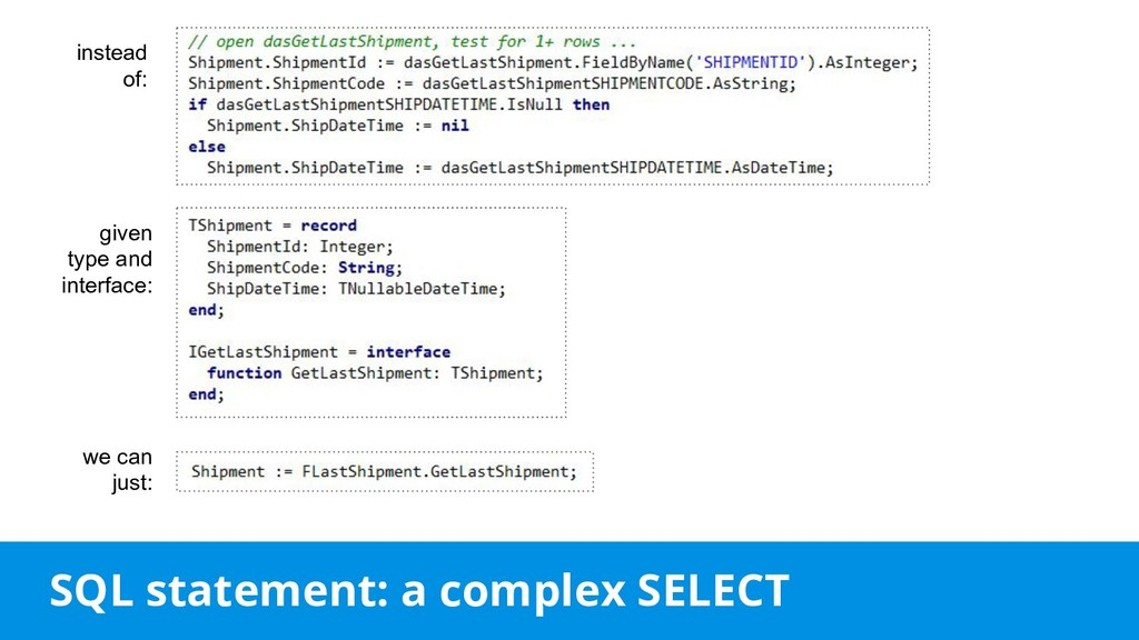 SQL statement: a complex SELECT instead of: giv...