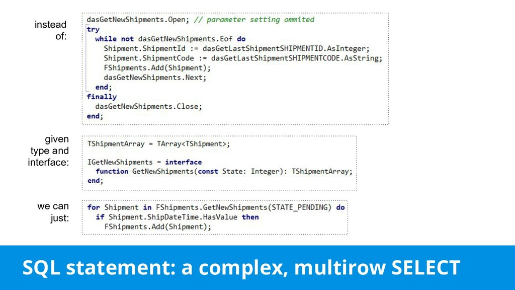 SQL statement: a complex, multirow SELECT inste...