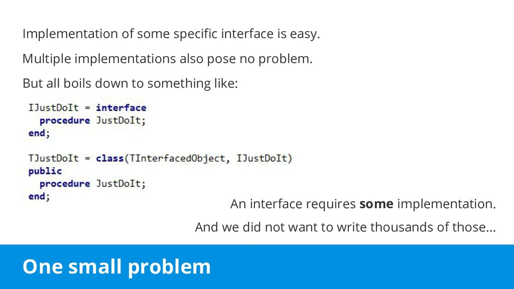 One small problem Implementation of some specif...