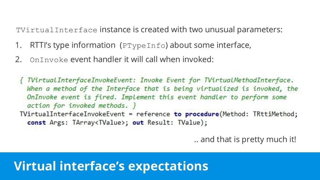 Virtual interface's expectations TVirtualInterf...