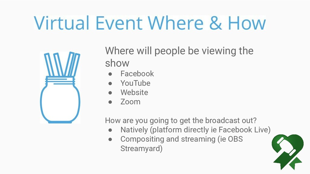 Where will people be viewing the show ● Faceboo...