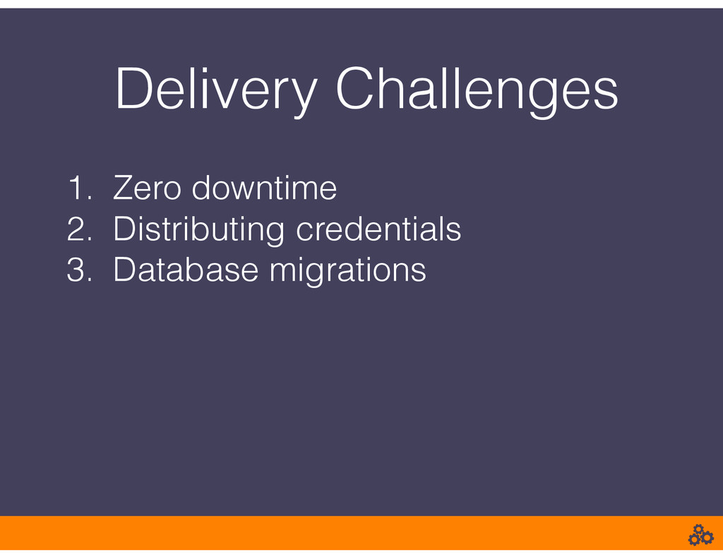 Delivery Challenges 1. Zero downtime 2. Distrib...