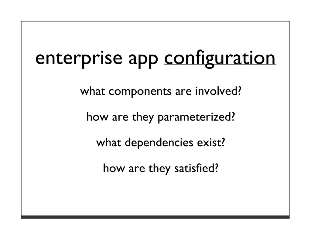 enterprise app configuration what components ar...