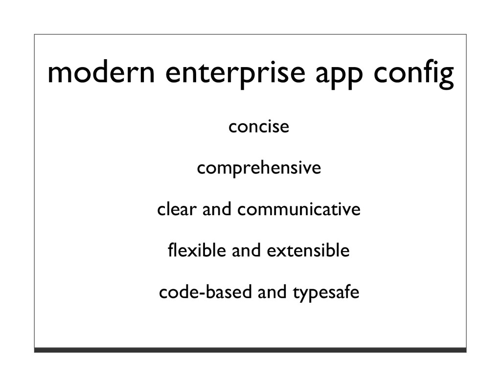 modern enterprise app config concise comprehens...