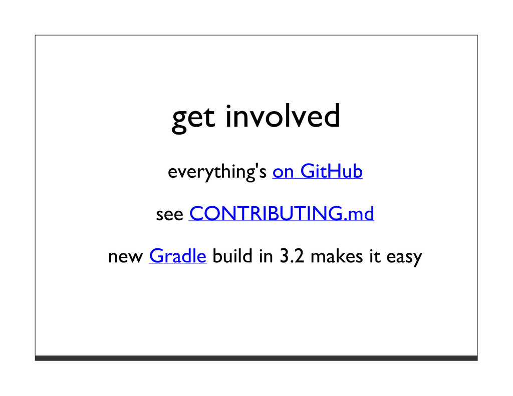 get involved everything's on GitHub see CONTRIB...