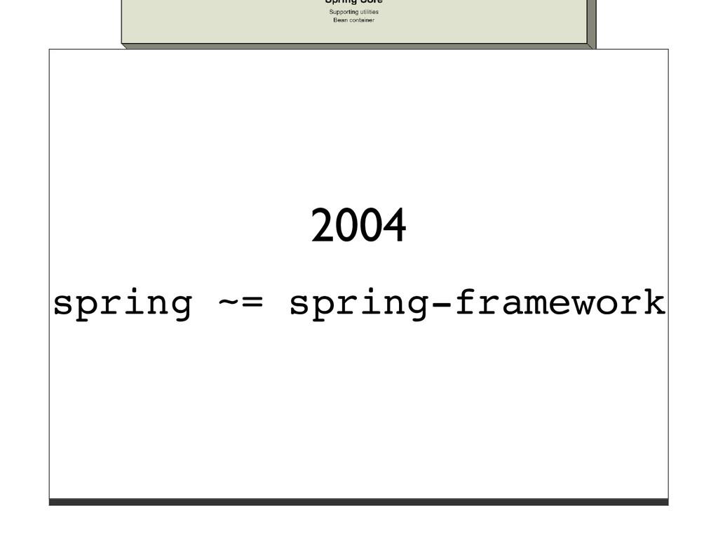 2004 spring ~= spring-framework