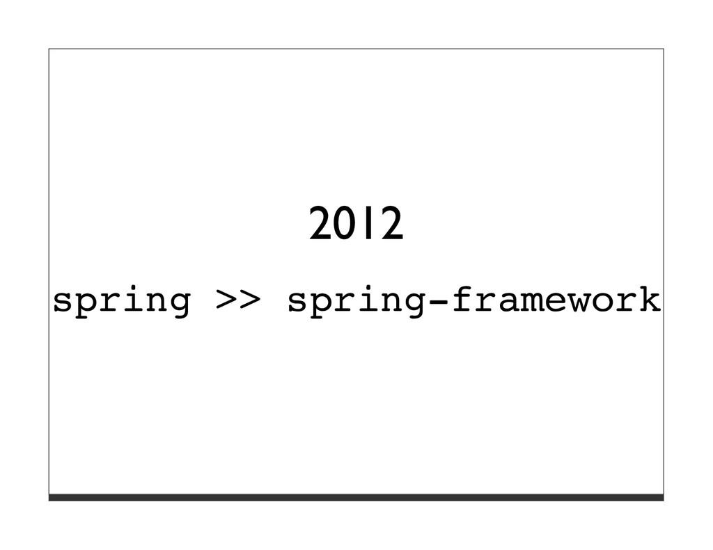 2012 spring >> spring-framework