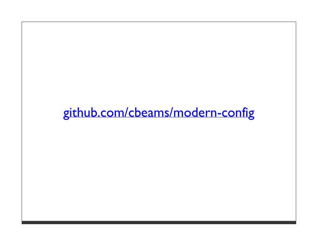 github.com/cbeams/modern-config