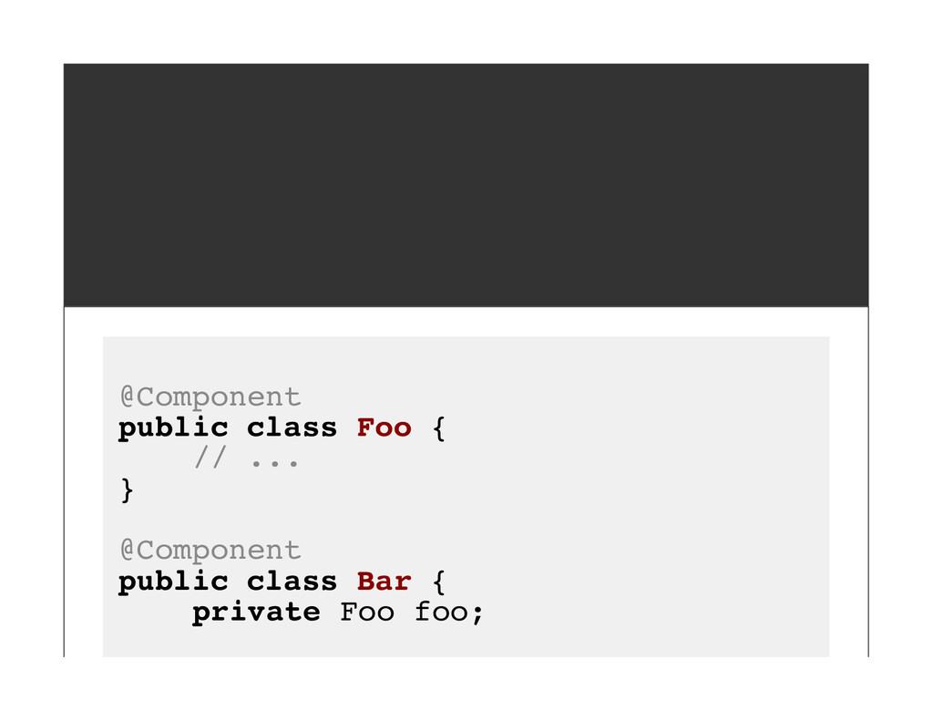 @Component public class Foo { // ... } @Compone...