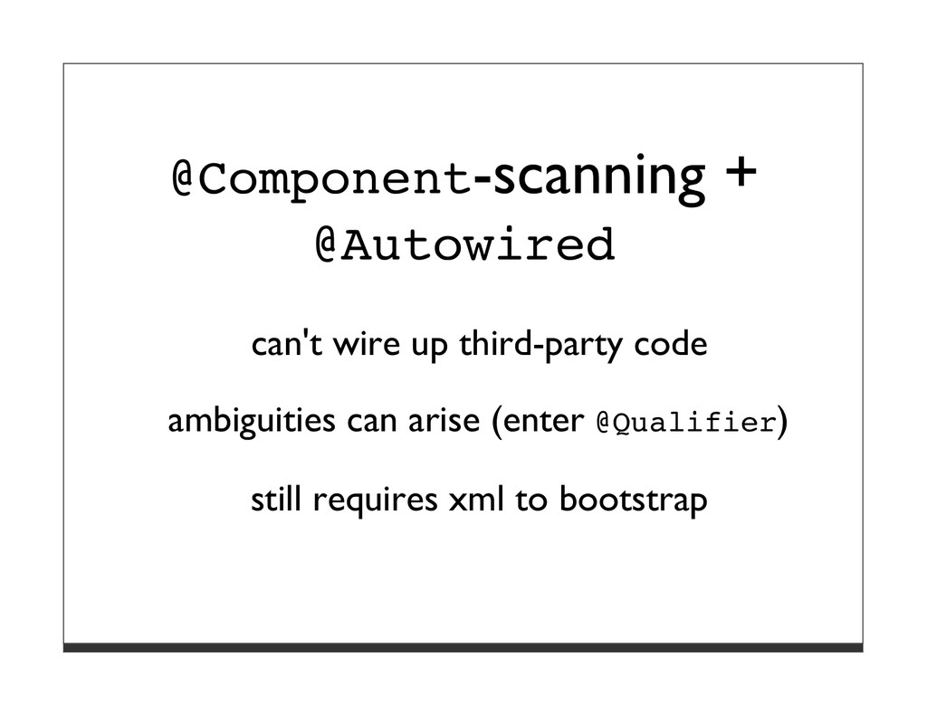 @Component-scanning + @Autowired can't wire up ...