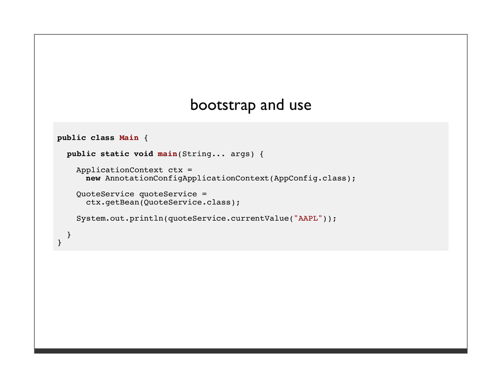 bootstrap and use public class Main { public st...