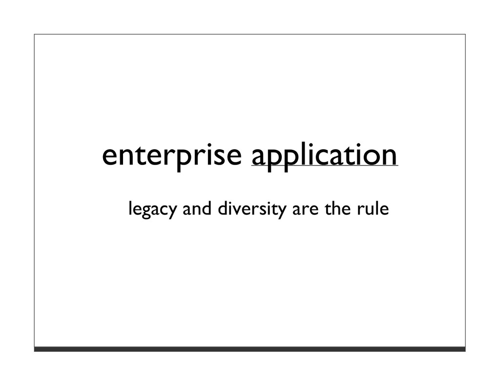 enterprise application legacy and diversity are...