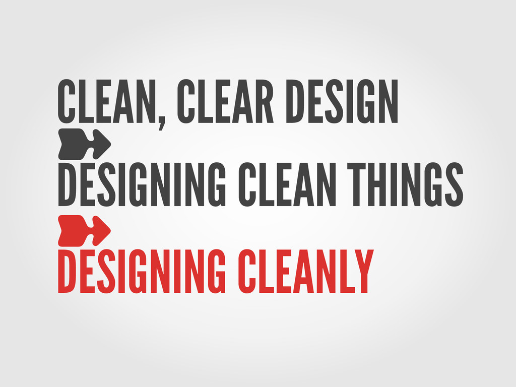 CLEAN, CLEAR DESIGN ➽ DESIGNING CLEAN THINGS ➽ ...