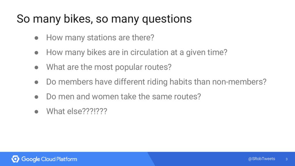 3 @SRobTweets So many bikes, so many questions ...