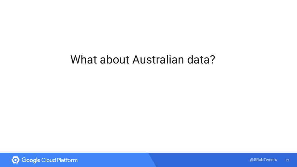 21 @SRobTweets What about Australian data?