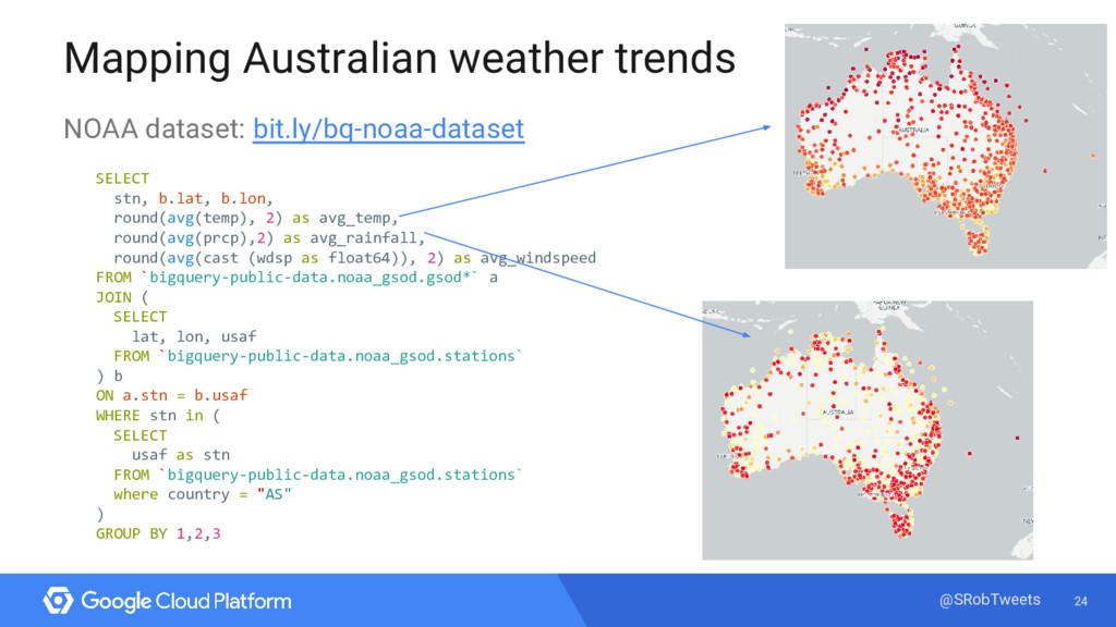 24 @SRobTweets Mapping Australian weather trend...