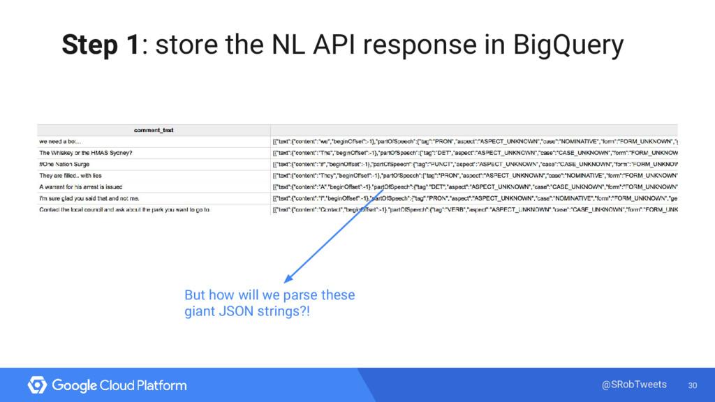 30 @SRobTweets Step 1: store the NL API respons...
