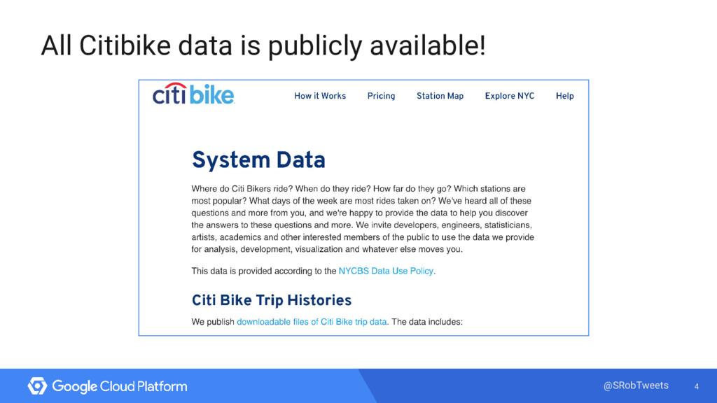 4 @SRobTweets All Citibike data is publicly ava...