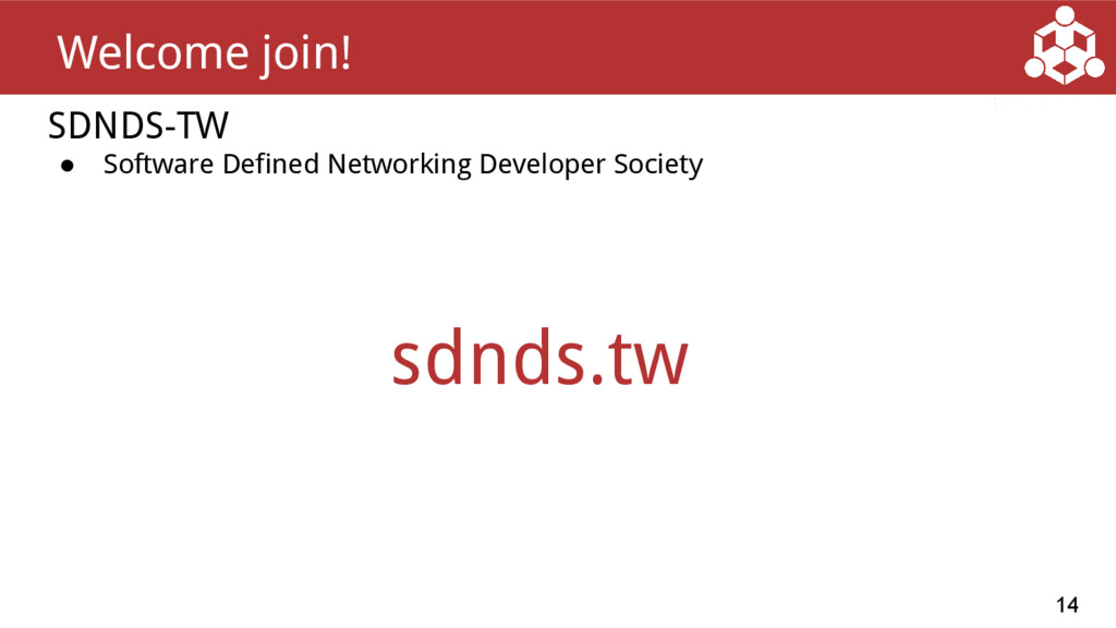 SDNDS-TW ● Software Defined Networking Develope...