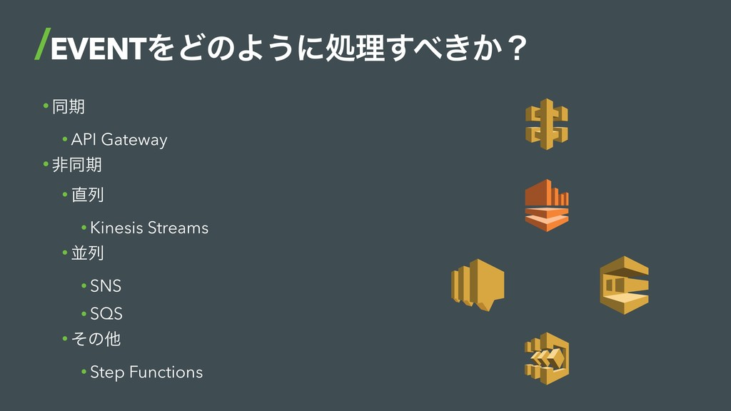 • ಉظ • API Gateway • ඇಉظ • ྻ • Kinesis Streams...