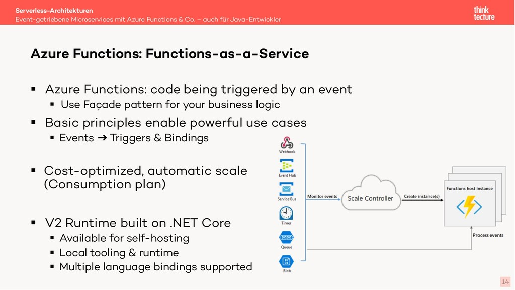 14 § Azure Functions: code being triggered by a...