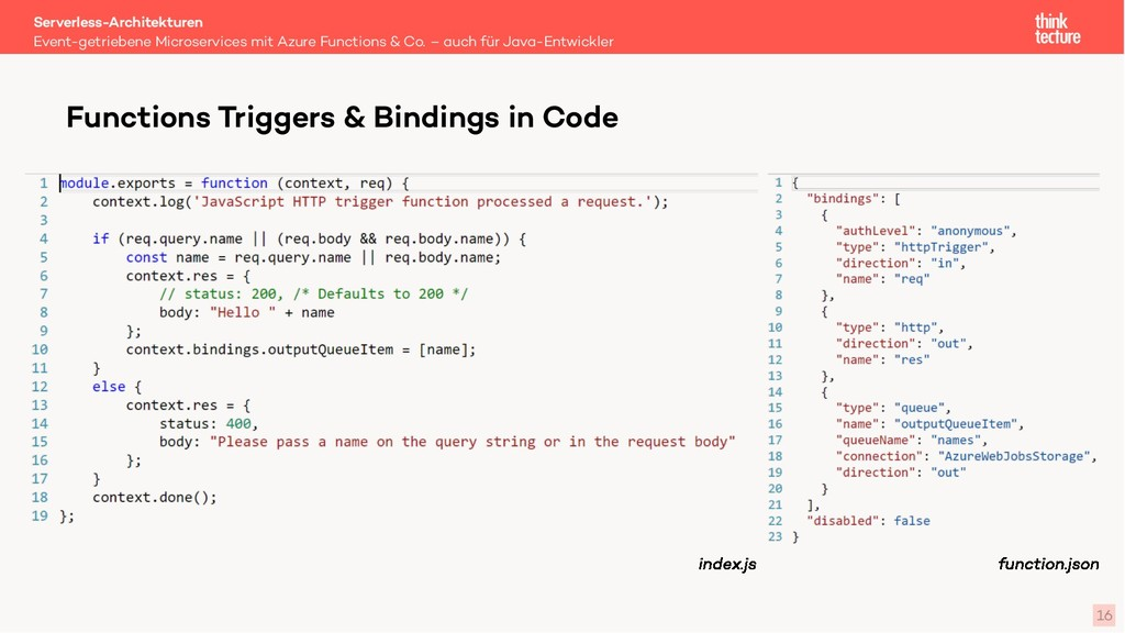 16 Functions Triggers & Bindings in Code Event-...