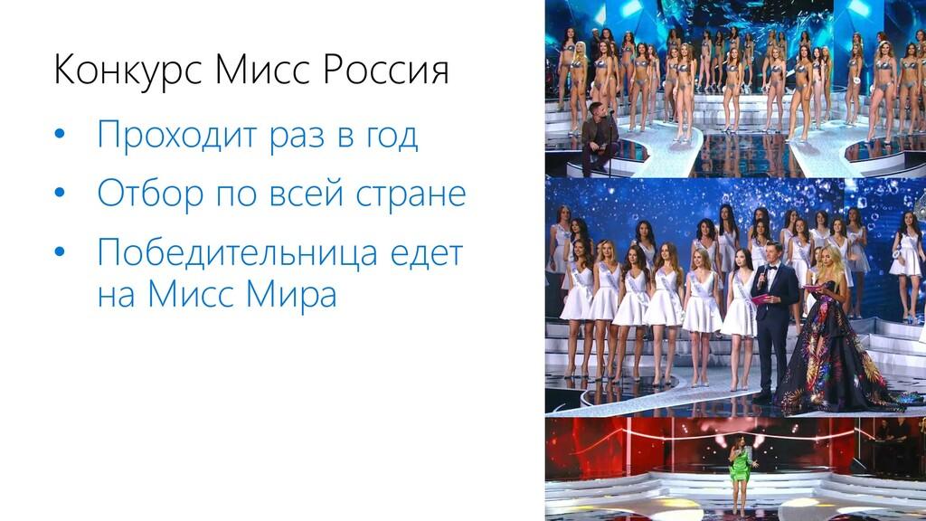 Конкурс Мисс Россия • Проходит раз в год • Отбо...