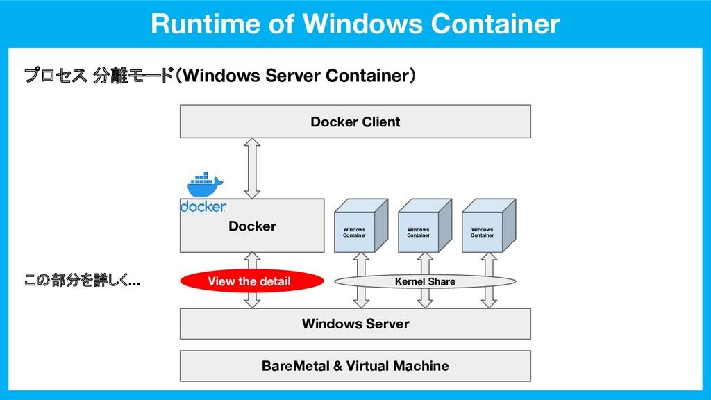 Runtime of Windows Container BareMetal & Virtua...
