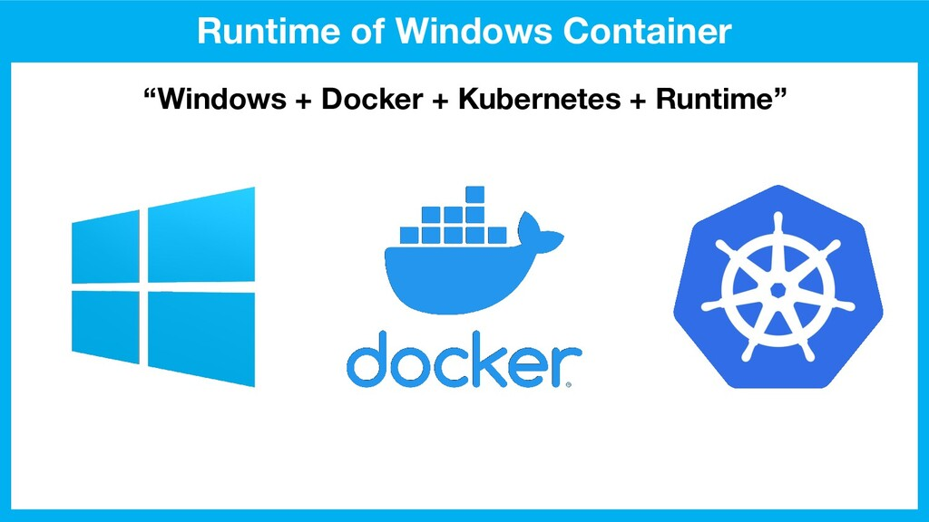 "Runtime of Windows Container ""Windows + Docker ..."