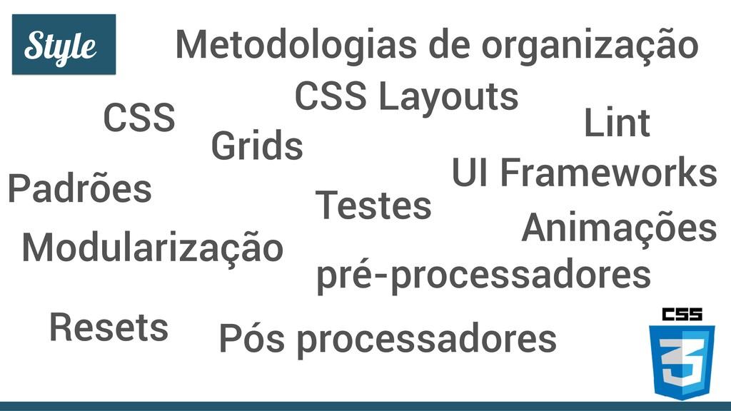 CSS Testes Lint Metodologias de organização pré...
