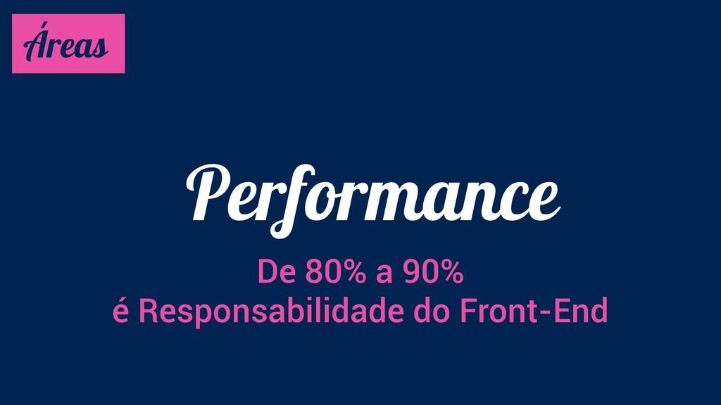 Performance Áreas De 80% a 90% é Responsabilida...