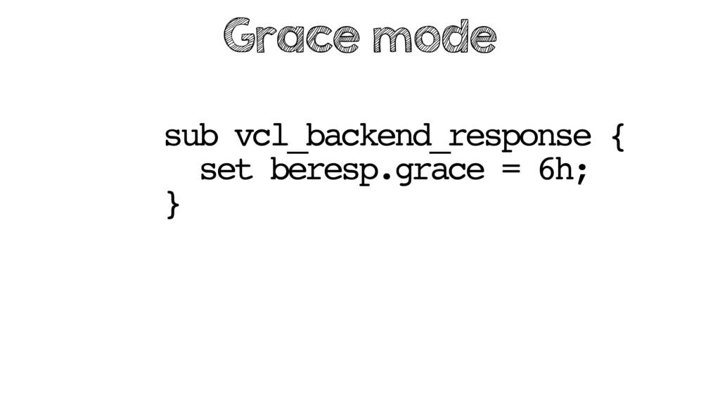 sub vcl_backend_response { set beresp.grace = 6...