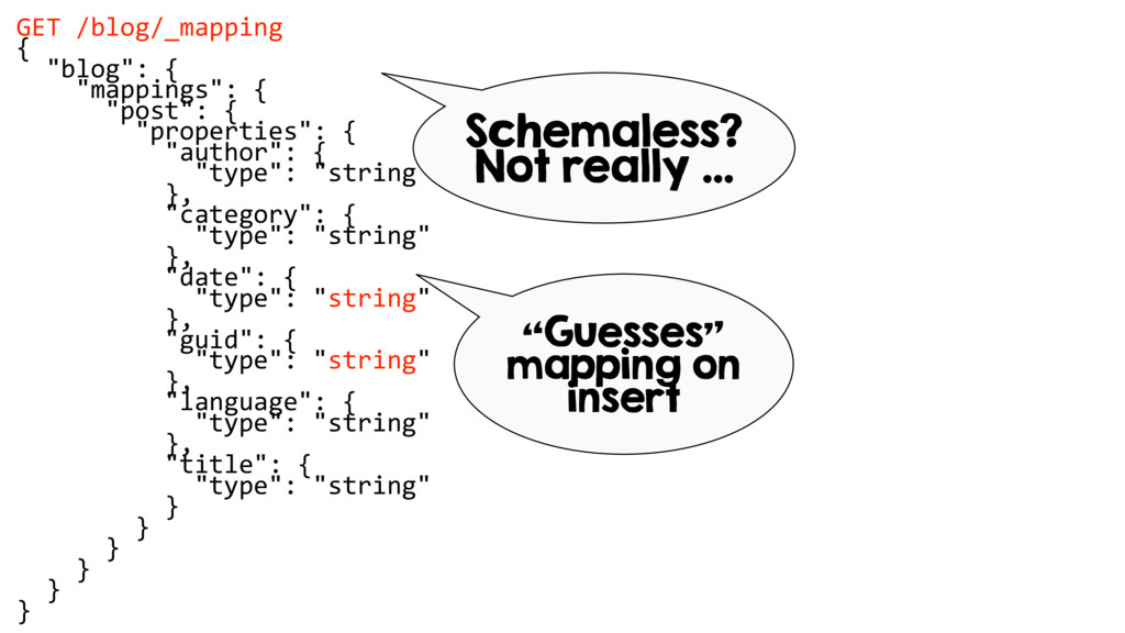 """GET /blog/_mapping { """"blog"""": { """"mappings"""": { """"p..."""