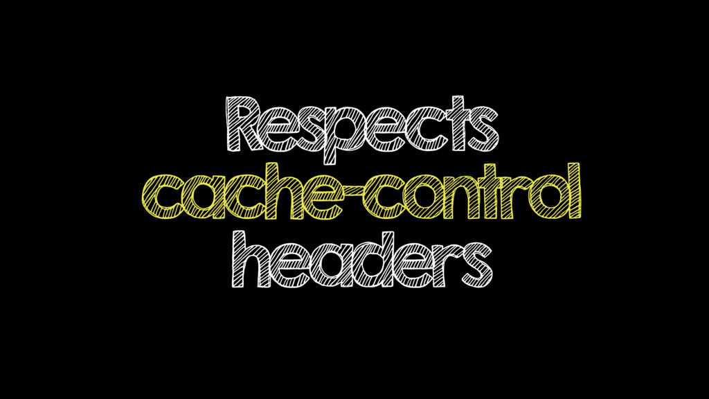 Respects cache-control headers