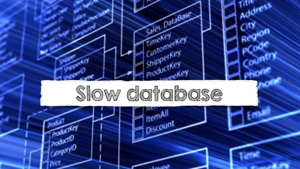 Slow database