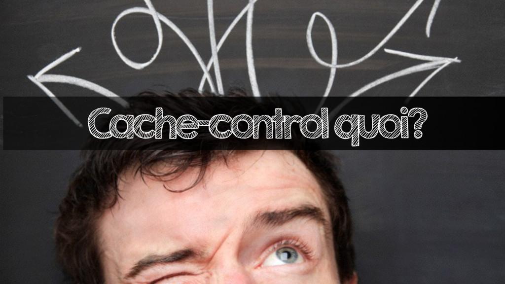 Cache-control quoi?