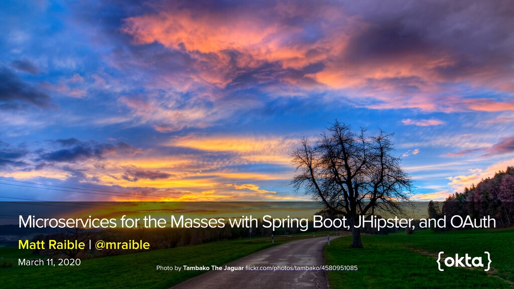 Microservices for the Masses with Spring Boot, ...